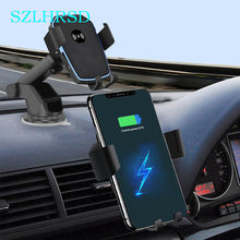 Car Mount Qi Wireless Charger Leagoo S10 Ulefone Armor 6 6E 5 X Elephone U Pro P9000 Quick Charge Fast Car Phone Holder Stand(China)