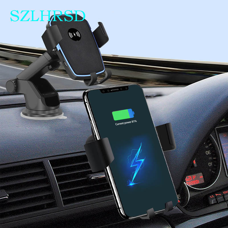Car Mount Qi Wireless Charger Blackview BV9700 Pro BV9500 BV6800 Pro BV9600 Plus Quick Charge 10W Fast Car Phone Holder Stand