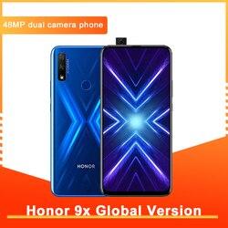 Смартфон Honor 9X глобальная версия 4G128G, двойная камера 48 МП, Диагональ экрана 6,59 дюйма, Android 9, FullView дисплей, 4000 мАч, OTA, Google Play