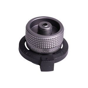 Outdoor Camping Hiking Stove Burners Adaptor Split Type Furnace Connector Auto-off Gas Cartridge Tank cylinder Adapter