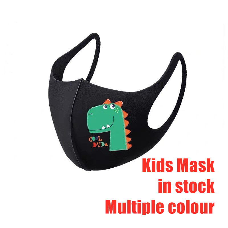 1pcs PM2.5 Kids Reusable Dust Mask Children Anti-smog Pollution Ice Silk Breathable Cartoon Anti Dustproof Washable Respirator