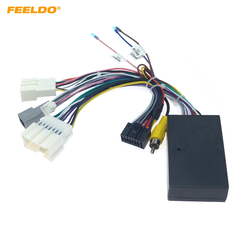 FEELDO Car Audio DVD Android 16PIN Power Cable Adapter With Canbus Box For Renault Captur Dacia Power Wiring Harness #HQ3323