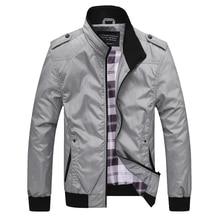 Autumn Fashion Men Jackets Casual Outwear Stand Collar Spliced Designer Leisure Coats British Campus Boyfriend Simple Jacket Men