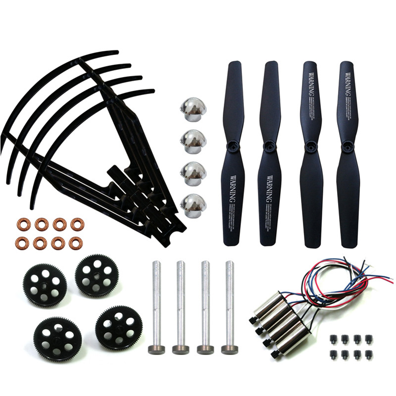 XS809W Spare Part Set Propeller Frame Gear Motor RC Drone Original Replacement Part for VISUO XS809W XS809HW XS809 RC Accessory image