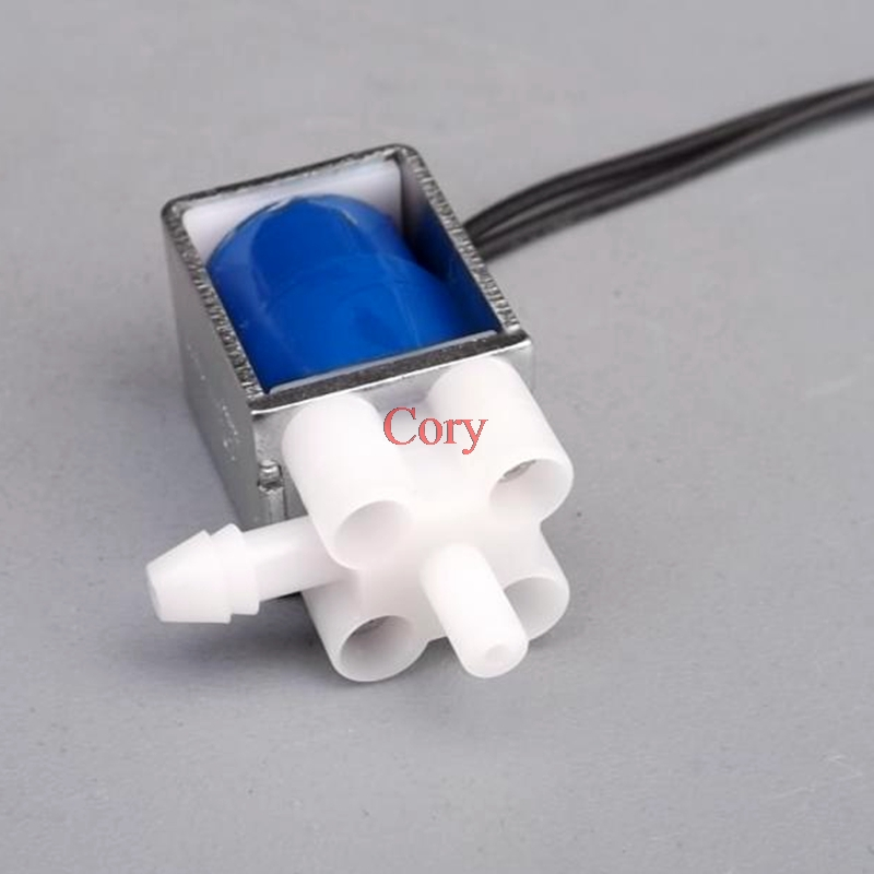 1PC DC 5V 6V Mini Two Position Three Way Miniature Solenoid Valve Small Electric Control Valve Air Exhaust Drain Valve