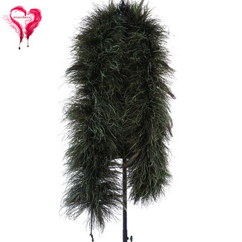 Natural Peacock Feather Boa Peacock Big Eye Feather Scarf Party Cosplay Clothing Decorative Accessory 2 Meters/ 1 Pcs