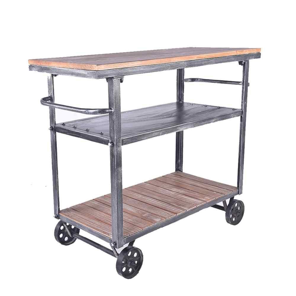 американская барная мебель барная корзина индустрия лофтутилизация старой еловой мебели антикварная деревянная барная тележка кухонная тележка с