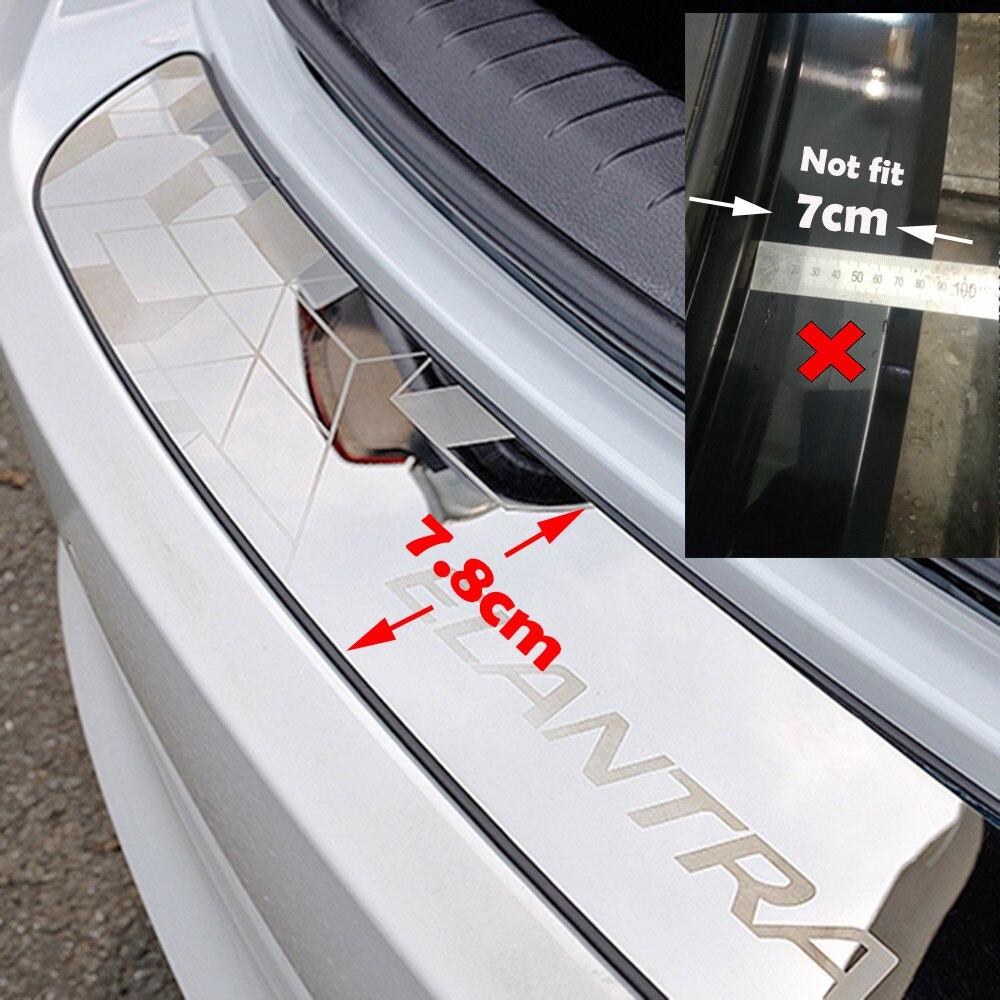 Hayon hayon couvercle de seuil de porte garniture de moulage pour HYUNDAI ELANTRA 2016 2017 2018 accessoires style de voiture - 2