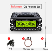 1pz ZT D9000 Car Radio Walkie Talkie Antenna Set Two Way Radio Repeater Transceiver Car Walkie Talkie 20km Amateur Ham Radio