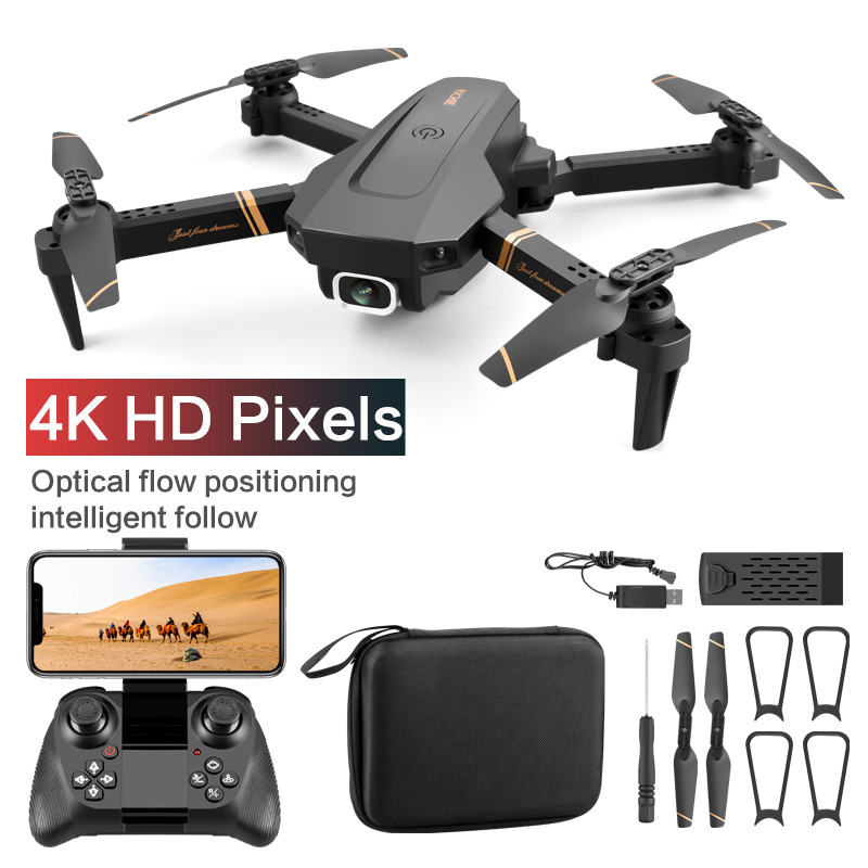 V4 WIFI FPV  Drone WiFi live video FPV 4K/1080P HD Wide Angle Camera Foldable Altitude Hold Durable RC Drone|RC Helicopters|   - AliExpress