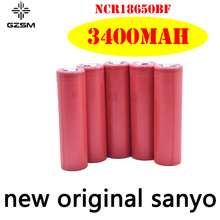 GZSM 18650 battery for Sanyo NCR18650BF rechargeable 3400mAh 3.6V 10A For replacement