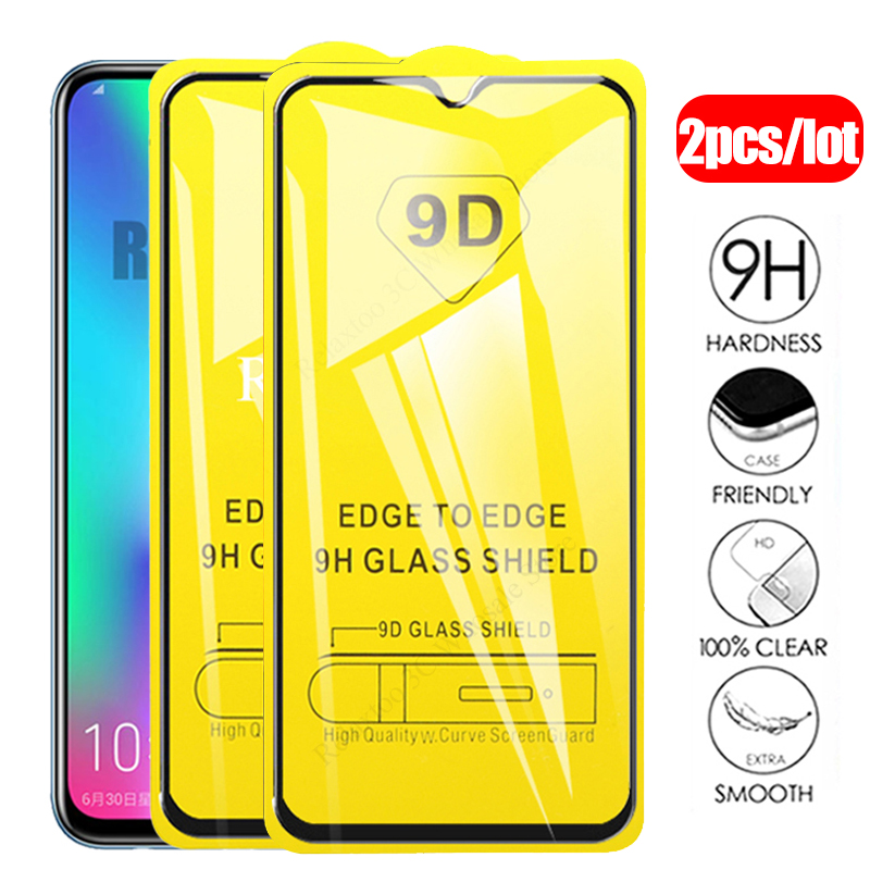 2pcs 9D Protective Glass Honor 10 Lite 9 Light 10i Full Glue Tempered Glas On For Huawei Honor 20 Pro 8s 8c 8a 8x 9x Safety Film