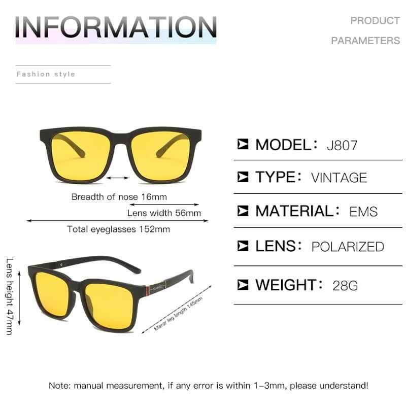 الكلاسيكية الاستقطاب للرؤية الليلية النظارات الشمسية الرجال النساء المضادة للوهج سيارة القيادة نظارات الشمس الذكور الأصفر عدسة نظارات UV400 Oculos