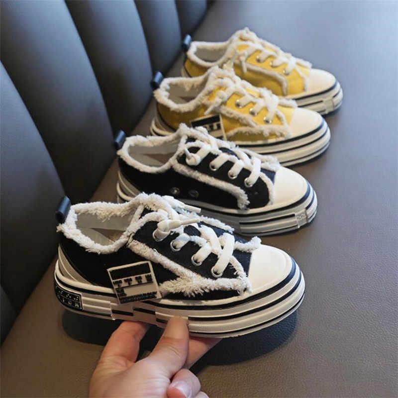 รองเท้าเด็ก 2019 ฤดูหนาว Beggars' tenis เด็กวัยหัดเดินรองเท้าผ้าใบเด็กหญิงรองเท้าเด็กเทรนเนอร์ slip-บนผ้าใบรองเท้าผ้าใบ