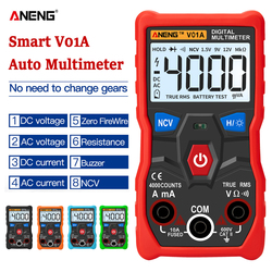 ANENG V01A  Digital Multimeter Automatic True-RMS intelligent NCV 4000 Counts AC/DC Voltage Current Ohm Test Tool