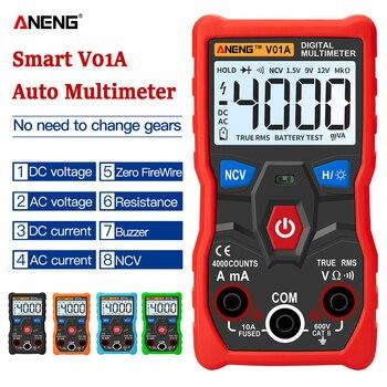 цена на ANENG V01A  Digital Multimeter Automatic True-RMS intelligent NCV 4000 Counts AC/DC Voltage Current Ohm Test Tool