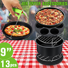 13Pcs Air Fryer Accessories 9 Inch Fit for Airfryer 5.2-6.8QT Baking Basket Pizza Plate