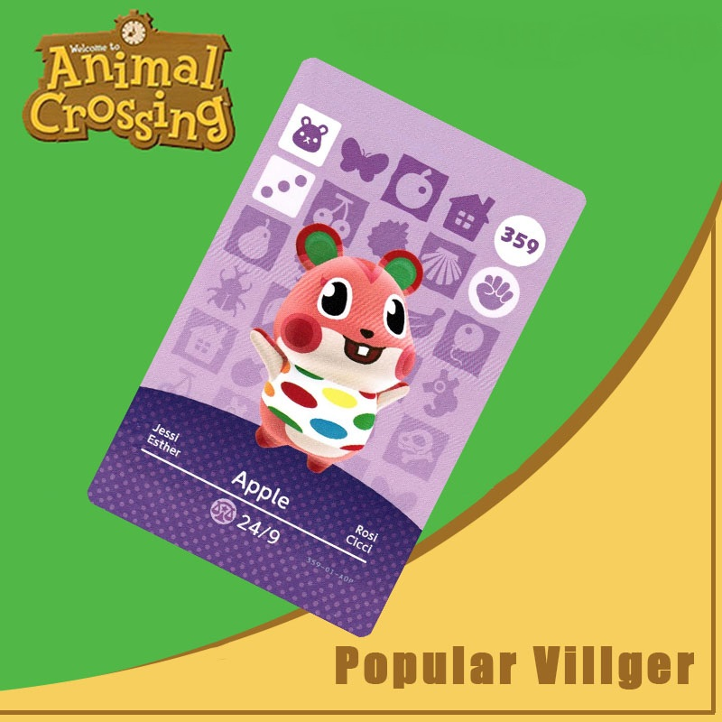 359 Animal Crossing Amiibo Card Apple Amiibo Card Animal Crossing Series 4 Apple Nfc Card Work For Ns Games Dropshipping