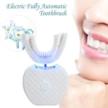 New Full-automatic Toothbrush Variable-frequency 360 Degree Teeth Whitening Rechargeable Electric Silicone