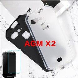 На Алиэкспресс купить чехол для смартфона 0.3mm 2.5d clear tempered glass screen protector for agm x2 matte black tpu back cover case for agm x2 se