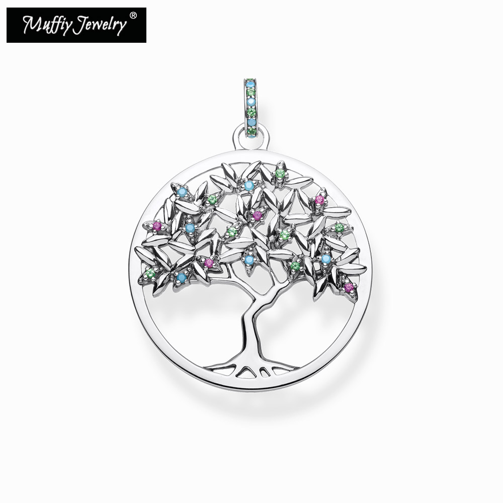 Colorful Tree Pendant,2020 Spring Brand New Thomas Style Bohemia Fashion Good Jewelry For Women,Ts Gift In 925 Sterling Silver