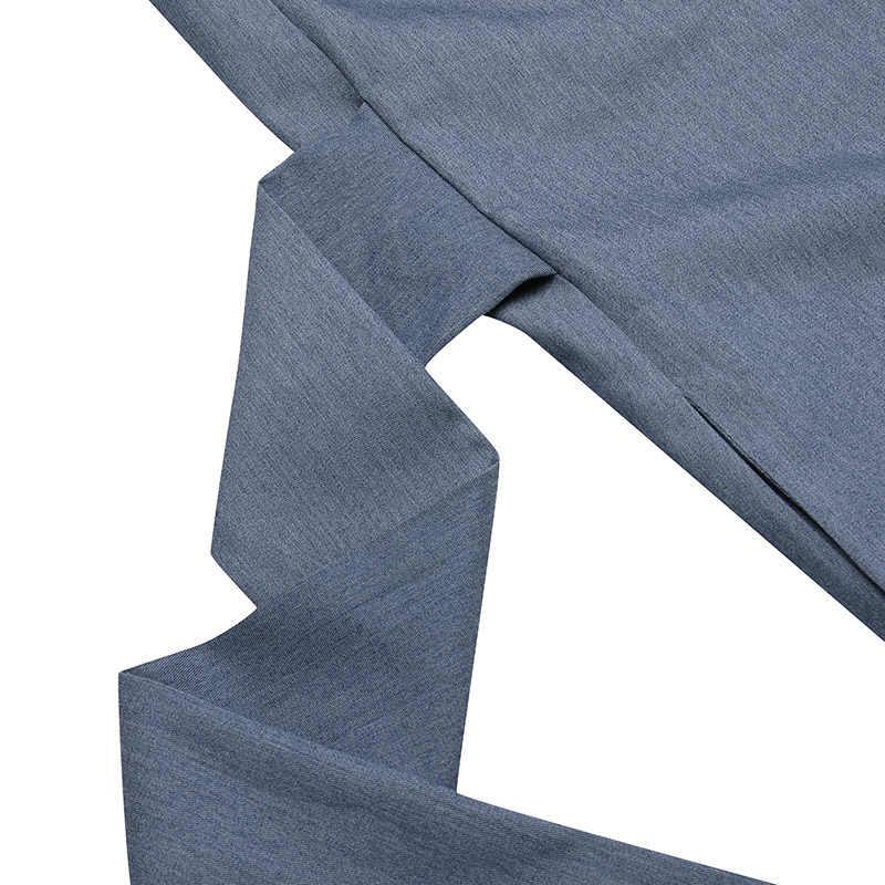 여성 여름 스플릿 Sundress 2020 ZANZEA 패션 맥시 드레스 캐주얼 솔리드 사라 판 Vestidos Belted Solid Robe Femme Plus Size