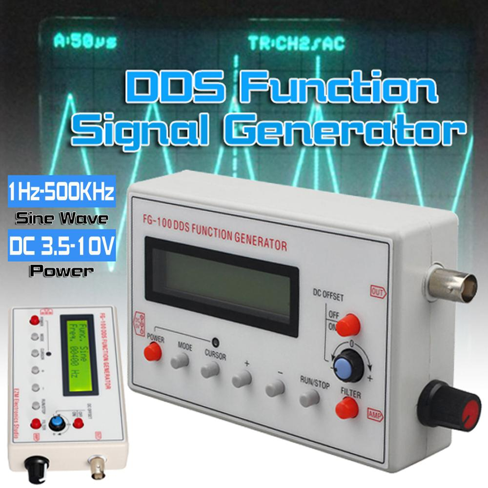 Systematic Hot Sale Fg-100 Dds Function Signal Generator Sine+triangle+square Wave Frequency Counter 1hz-500khz In Short Supply