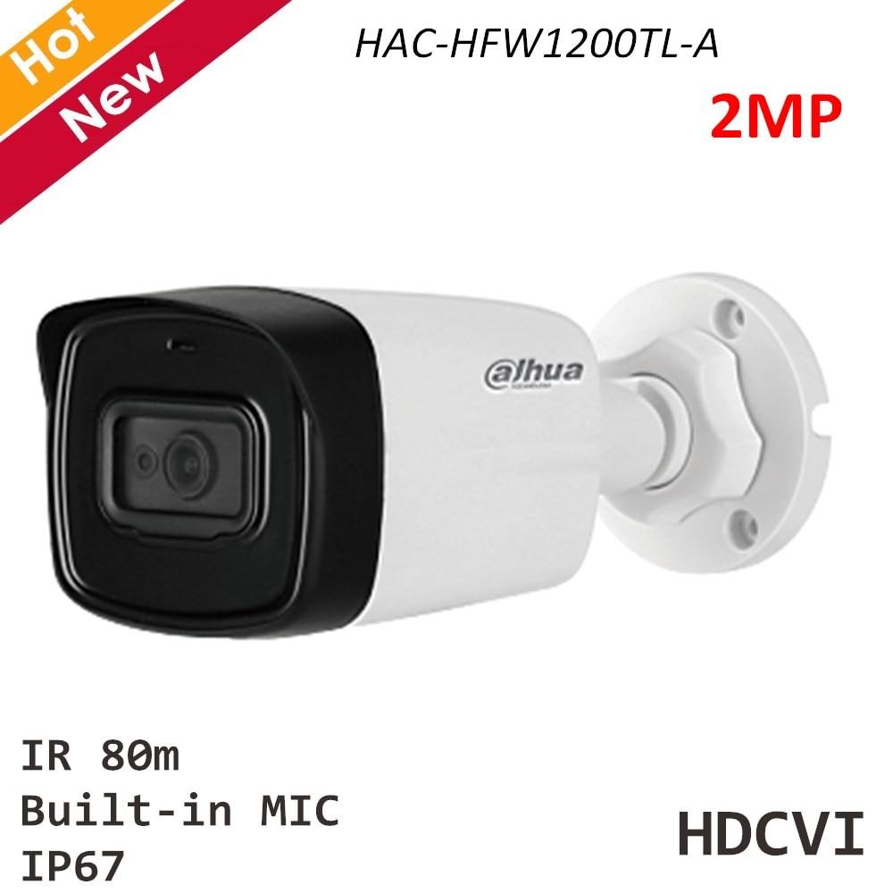 Dahua Security Camera HAC-HFW1200TL-A 2MP HDCVI IR Bullet Camera Built-in MIC IR 80m 3.6mm 2.8mm 6mm Waterproof HDCVI Camera