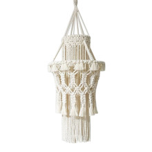 Macrame Wall Hanging Tapestry Weave Chandelier Lampshade Decorations Bohemia Handcraft Tassel Tapestry Background Wall(China)
