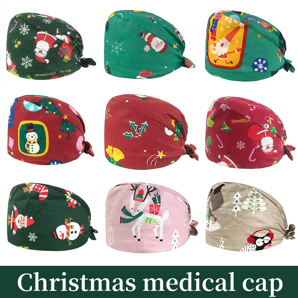 Cotton Medical Surgery Caps Adjustable Surgical Hats Pet Hospital Doctor Working Hats Laboratory Unisex Pharmacy Nursing Caps