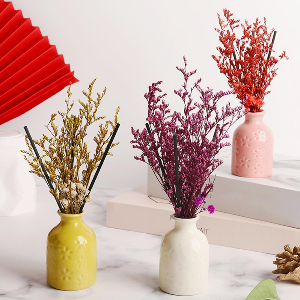 Rose Lavender Flower Fragrance Diffuser Essential Oil Aromatherapy Air Freshener Rattan Oil Diffuser Refill Sticks Party Home