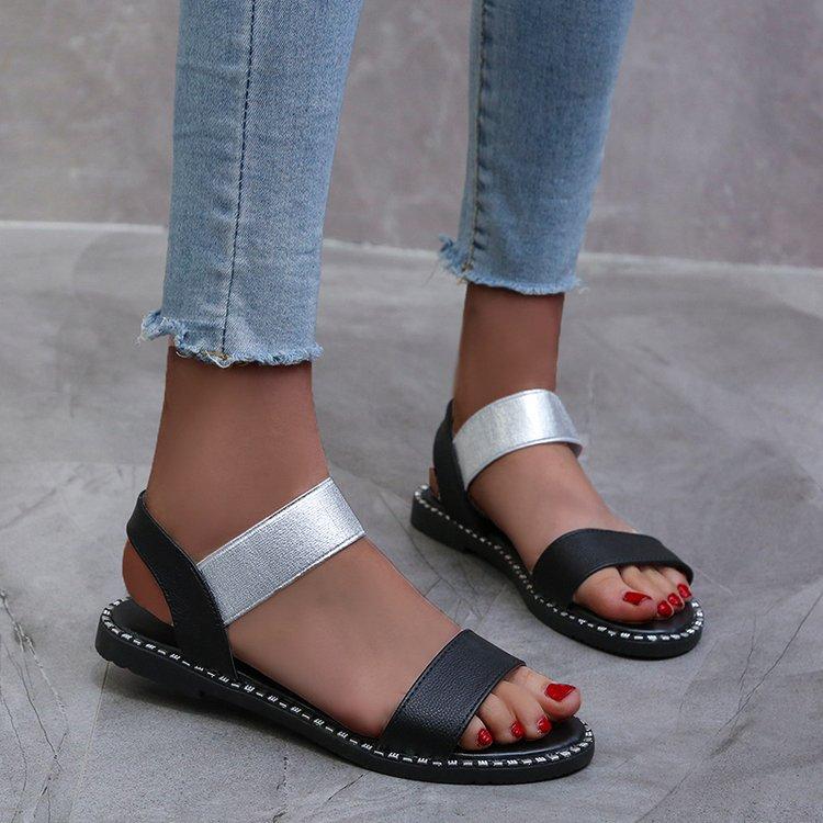 2020 Women Flats Sandals Women Shoes Summer Fashion Flip Flops Ladies Shoes Rome Summer Sandals Zapatos Mujer Sandalias