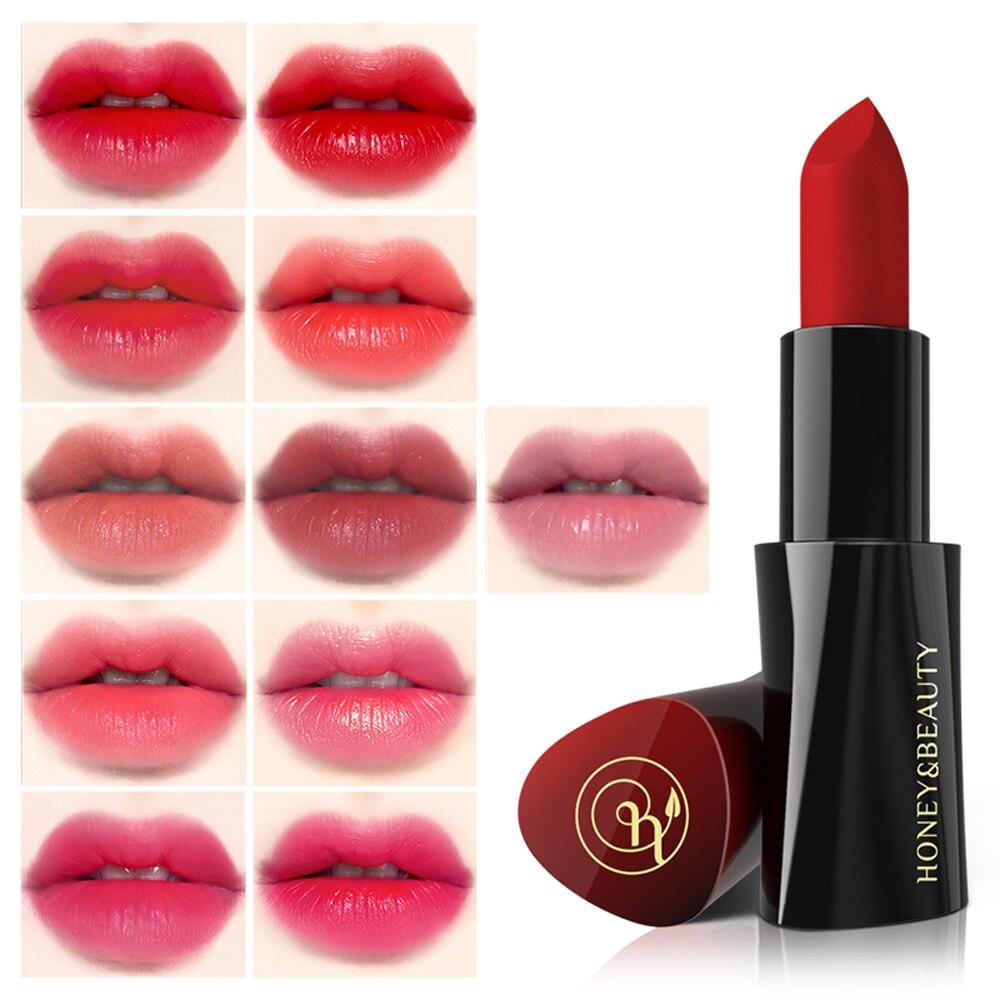11 Colors Long Lasting Matt Lipstick Nude Makeup Moisturizing Lip Stick Red Lip Pigmented Velvet Cosmetic Pomade