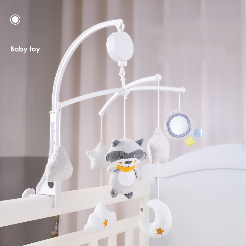 Baby Crib Holder Rattles Baby Toys 0-12 Months Music Box Bed Toy Carousel For Cots Mobile Toys For Children Toddler Rattle Toy