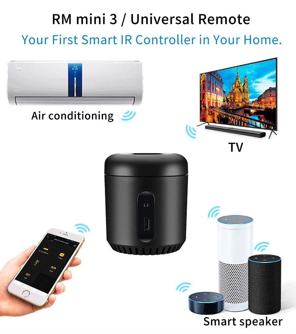 Broadlink RM4C Mini RM Mini3 Alexa Amazon WiFi IR 4G Compatible Google Home Wireless Smart Remote Controller IOS Voice Control