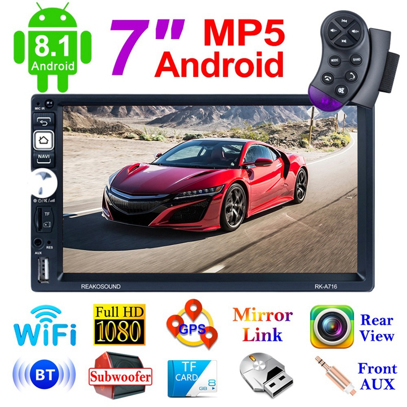 Новый Android 8,1 автомобильный радиоприемник Gps навигация 2 Din автомобильный радиоприемник 7 дюймов Автомобильный Mp5 мультимедийный плеер Wifi FM AM ... - 6