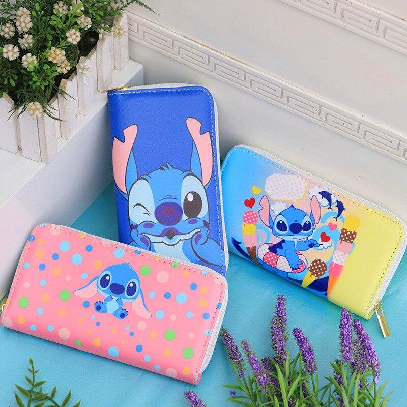 Disney cartoon coin bag Stitch  lovely wallet cartoon pu girl boy card gchildren holder Clutch