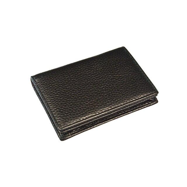 100% Genuine Leather Business Name Card Case Large Capacity Cross Crocodile Saffiano Bank Card ID Holder Custom name logo 4