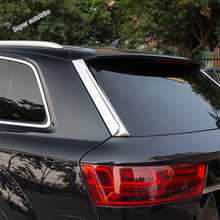 Lapetus Rear Window Cover Side Door Tail Windows Trim Stripe Car Styling For Audi Q7 2016 - 2019 ABS Chrome Accessories Exterior