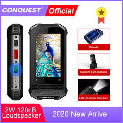 CONQUEST 2020 Rugged Smartphone F2 Luxury Mini IP68 Shockproof Waterproof Phone Android NFC Little F2 Mobile Cell Phone