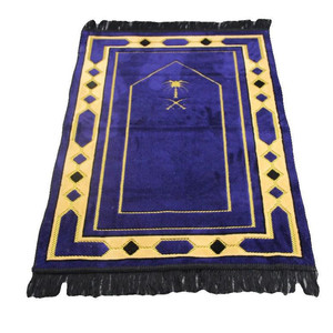 Image 2 - 70*110cm Cashmere Like Islamic Muslim Prayer Mat Salat Musallah Prayer Rug Tapis Carpet Tapete Banheiro Islamic Praying Mat PM20