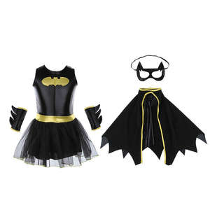 Image 4 - Super hero Film Die Batman Kostüm Kind Mädchen Batman Kinder Maske Kleid Batman Kostüme Super hero Sets Outfits Festival Party