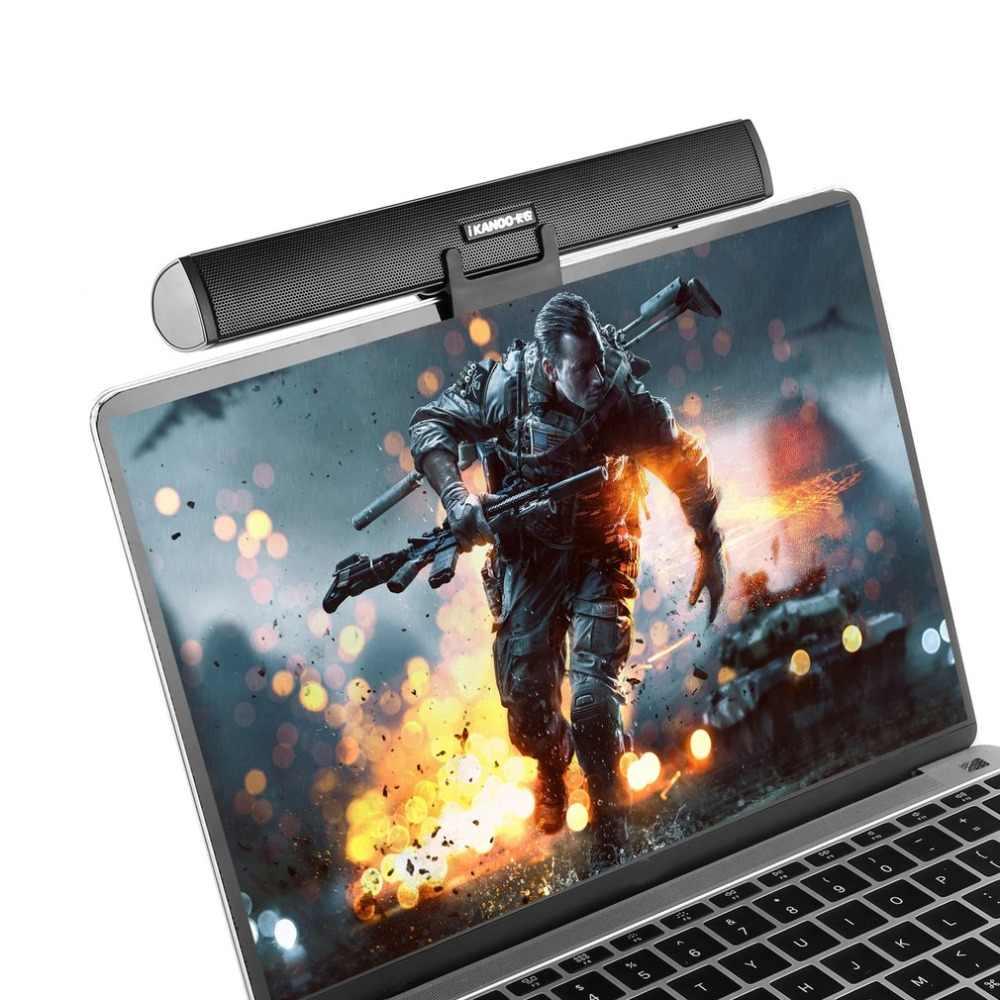 IKANOO 3,5 мм USB мощность ноутбук компьютер ПК ноутбук аудио динамик аудио усилитель звука Саундбар разъем для наушников с держателем
