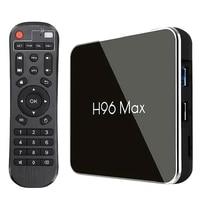 For 8.1 Tv Box H96 Max X2 Amlogic S905X2 Smart 4K Media Player 2.4G&5G Wifi Pk X96Max H96Max Set Top Box Youtube(Us Plug)4G64G