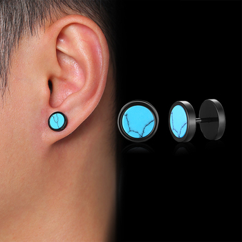 Stylish Stud Earrings for Men Daily Street Wear Jewelry Multi color Stainless Steel Male Boy Small.jpg 350x350 - Stylish Stud Earrings for Men Daily Street Wear Jewelry Multi-color Stainless Steel Male Boy Small Ear Accessory