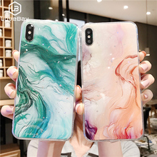 lovebay Epoxy Platinum Colorful Marble Phone Cases For