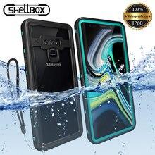 IP68 360 tam koruma su geçirmez telefon kılıfı için Samsung Note10 S10 S9 artı yüzme dalış kapak S20 not 10 + 9 8 Coque