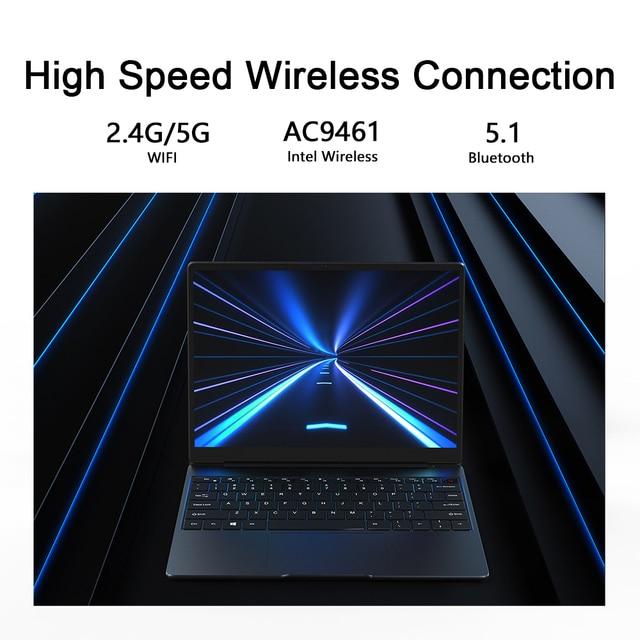 "CHUWI GemiBook 13"" 2K IPS Screen LPDDR4X 12GB 256GB SSD Intel Celeron Quad Core Windows 10 Laptop with Backlit Keyboard 6"