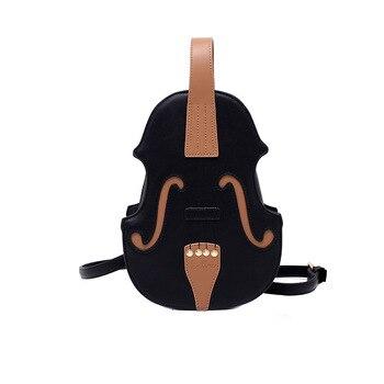 New 3 Colors Vintage Violin Design Shoulder Bag Crossbody Bag for Women 2021 Purses and Handbags Pu Leather Trendy Designer Bag 9
