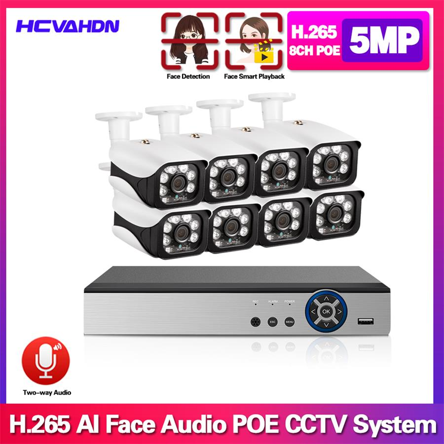 Home Cctv Video Surveillance <font><b>IP</b></font> <font><b>Camera</b></font> NVR 8ch <font><b>Outdoor</b></font> face detect Security <font><b>Camera</b></font> System Kit 5mp <font><b>Poe</b></font> waterproof <font><b>Camera</b></font> Full <font><b>Set</b></font> image